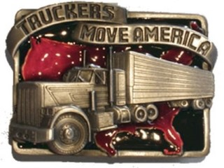 Truckers Move America buckle by Siskiyou