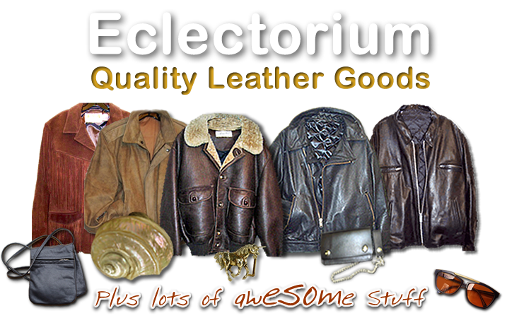 Eclectorium has Quality Leather Goods, Sunglasses, Belt Buckles, Nude Art and Cool Stuff - Plus Red Sox and Harley Davidson items!